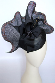 Fashion hat Sonata by Melbourne milliner Louise Macdonald