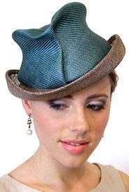 Fashion hat Artemis by Melbourne milliner Louise Macdonald