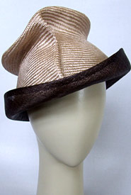 Fashion hat Brown Artemis by Melbourne milliner Louise Macdonald