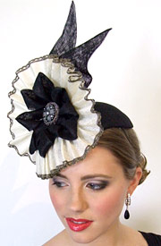 Fashion hat Athena by Melbourne milliner Louise Macdonald