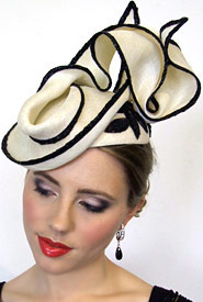 Fashion hat Clio by Melbourne milliner Louise Macdonald