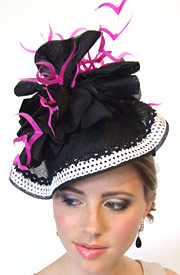Fashion hat Echo by Melbourne milliner Louise Macdonald