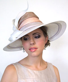 Fashion hat Electra by Melbourne milliner Louise Macdonald