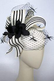 Fashion hat Light Finger by Melbourne milliner Louise Macdonald