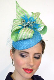 Fashion hat Hemera by Melbourne milliner Louise Macdonald
