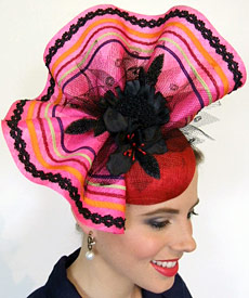 Fashion hat Iris by Melbourne milliner Louise Macdonald