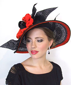 Fashion hat Ossa by Melbourne milliner Louise Macdonald