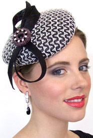 Fashion hat Phoebe by Melbourne milliner Louise Macdonald