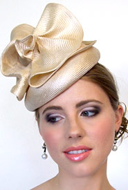 Fashion hat Psyche by Melbourne milliner Louise Macdonald
