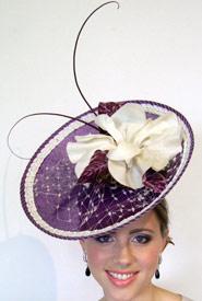 Fashion hat Rhea by Melbourne milliner Louise Macdonald