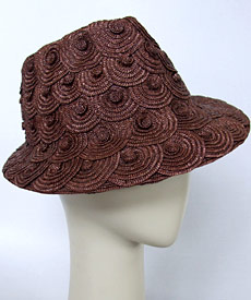 Fashion hat Brown Trilby by Melbourne milliner Louise Macdonald