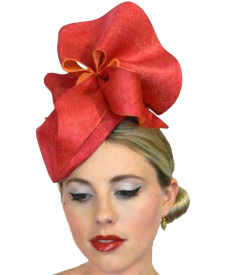 Fashion hat Cerise Amelie by Melbourne milliner Louise Macdonald