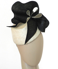 Fashion hat Natural Amelie by Melbourne milliner Louise Macdonald