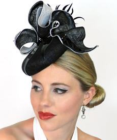 Fashion hat Betty Boop by Melbourne milliner Louise Macdonald