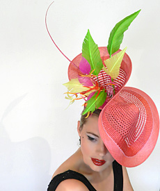 Fashion hat Carmen by Melbourne milliner Louise Macdonald