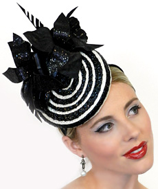 Fashion hat Dita by Melbourne milliner Louise Macdonald