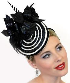 Fashion hat Dita by Melbourne milliner Louise Macdonald