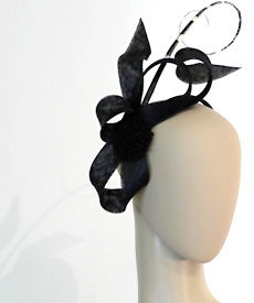 Fashion hat Eva Luna by Melbourne milliner Louise Macdonald