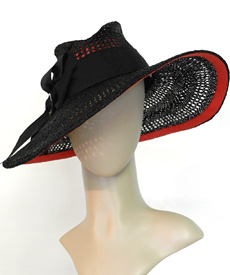 Fashion hat Foxy Brown by Melbourne milliner Louise Macdonald