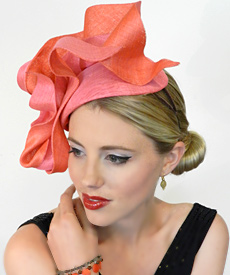 Fashion hat Lady Godiva by Melbourne milliner Louise Macdonald