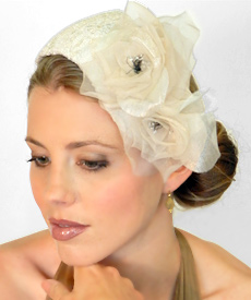 Fashion hat Holly Go Lightly by Melbourne milliner Louise Macdonald