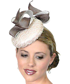 Fashion hat Isadora by Melbourne milliner Louise Macdonald