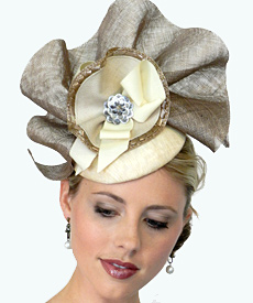 Fashion hat Layla by Melbourne milliner Louise Macdonald