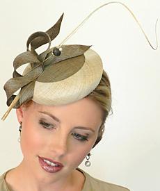 Fashion hat Lorelei by Melbourne milliner Louise Macdonald