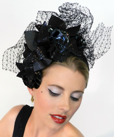 Fashion hat Madama Butterfly by Melbourne milliner Louise Macdonald