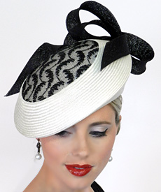 Fashion hat Marchesa by Melbourne milliner Louise Macdonald