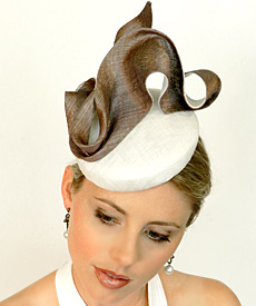 Fashion hat Mata Hari by Melbourne milliner Louise Macdonald