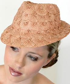 Fashion hat Matilda by Melbourne milliner Louise Macdonald