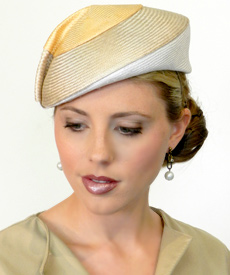 Fashion hat Mona Lisa by Melbourne milliner Louise Macdonald