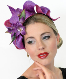 Fashion hat Ophelia by Melbourne milliner Louise Macdonald