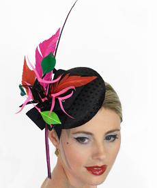 Fashion hat Pocahontas by Melbourne milliner Louise Macdonald
