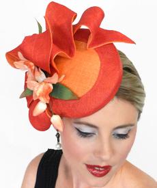 Fashion hat Scarlett by Melbourne milliner Louise Macdonald