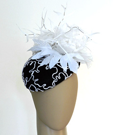 Fashion hat Scheherazade by Melbourne milliner Louise Macdonald