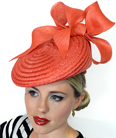 Fashion hat Tallulah by Melbourne milliner Louise Macdonald
