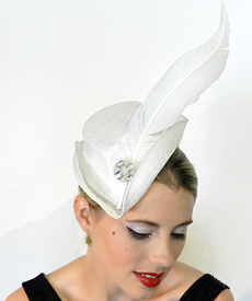 Fashion hat Thumbelina by Melbourne milliner Louise Macdonald