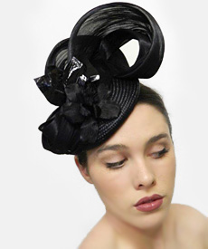 Fashion hat 34th Street, a design by Melbourne milliner Louise Macdonald
