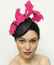 Fashion hat 38th Street, a design by Melbourne milliner Louise Macdonald