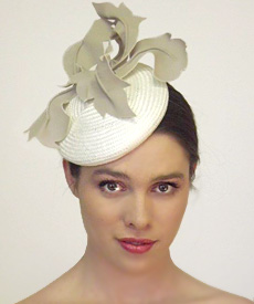 Fashion hat 86th Street, a design by Melbourne milliner Louise Macdonald