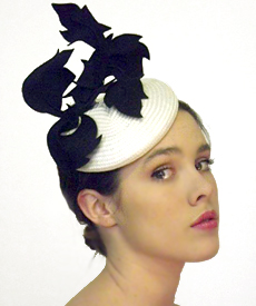 Fashion hat 96th Street, a design by Melbourne milliner Louise Macdonald