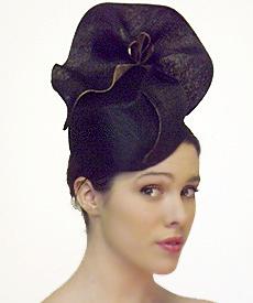 Fashion hat Black Amelie, a design by Melbourne milliner Louise Macdonald