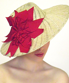 Fashion hat Brighton Beach, a design by Melbourne milliner Louise Macdonald