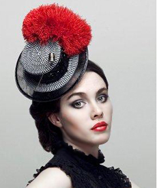 Fashion hat Cheerleader, a design by Melbourne milliner Louise Macdonald