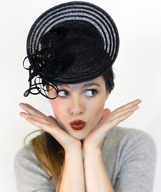 Fashion hat Grimaldi X, a design by Melbourne milliner Louise Macdonald
