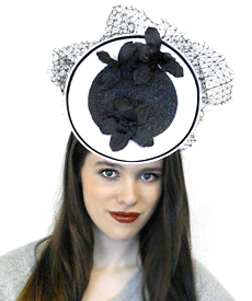 Fashion hat Grimaldi XI, a design by Melbourne milliner Louise Macdonald