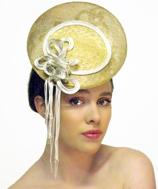Fashion hat Grimaldi XII, a design by Melbourne milliner Louise Macdonald