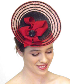 Fashion hat Grimaldi XI, a design by Melbourne milliner Louise Macdonald